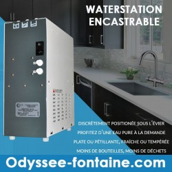 FONTAINE EAU GAZEUSE WATER STATION ENCASTRABLE