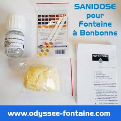 SANIDOSE DESINFECTANT POUR FONTAINE A BONBONNE EAU