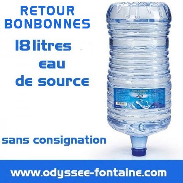 Retour Bonbonne a eau de source 18 L pleine