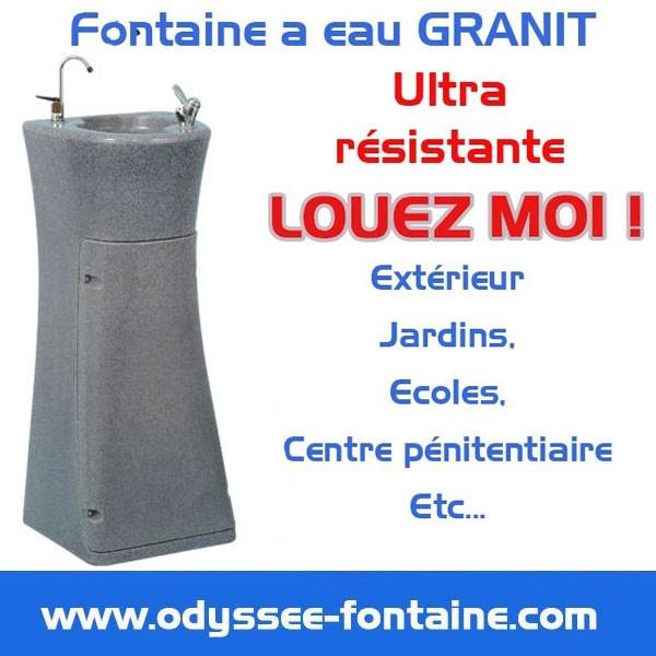 Location de Fontaine à eau GRANIT de courte durée tempérée ou froide