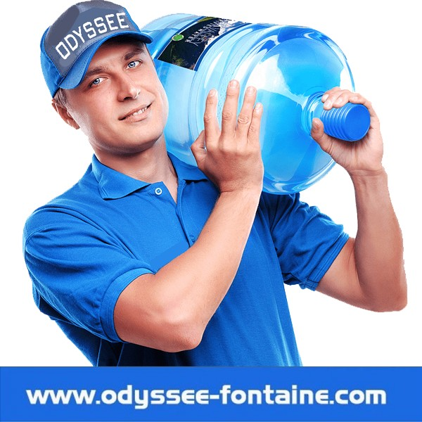 Bonbonne a eau de source 18L pleine en location annuelle