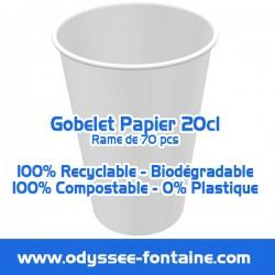 Gobelets papier 20cl par rame de 70 pcs