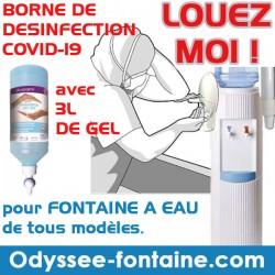 LOCATION BORNE DE DESINFECTION + 3 LITRES DE GEL HYDROALCOOLIQUE