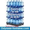 Palette de 48 Bonbonnes à eau de source pleine consignée