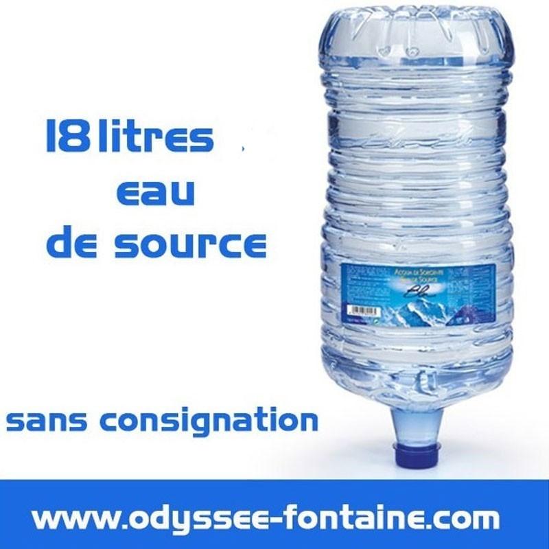 Bonbonne a eau de source 18L pleine