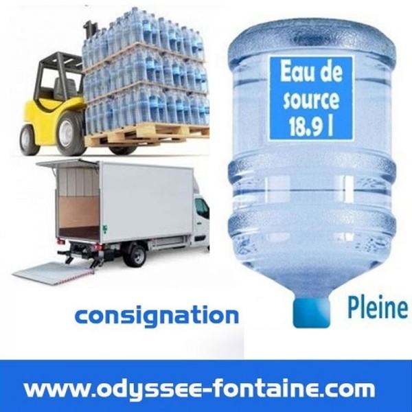 Location bonbonne à eau de source ODYSSEO par 6